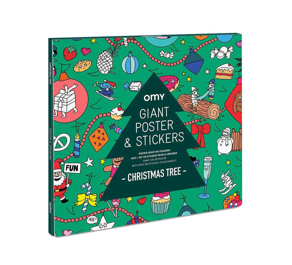 OMY Sticker Poster - Christmas Tree - Little Nomad