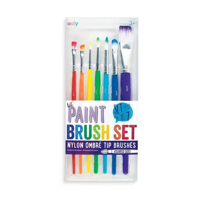 OOLY - Lil' Paint Brush Set- Set of 7 - Little Nomad