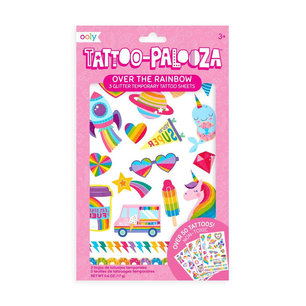 OOLY - Tattoo Palooza Temporary Glitter Tattoo: Over The Rainbow - Little Nomad
