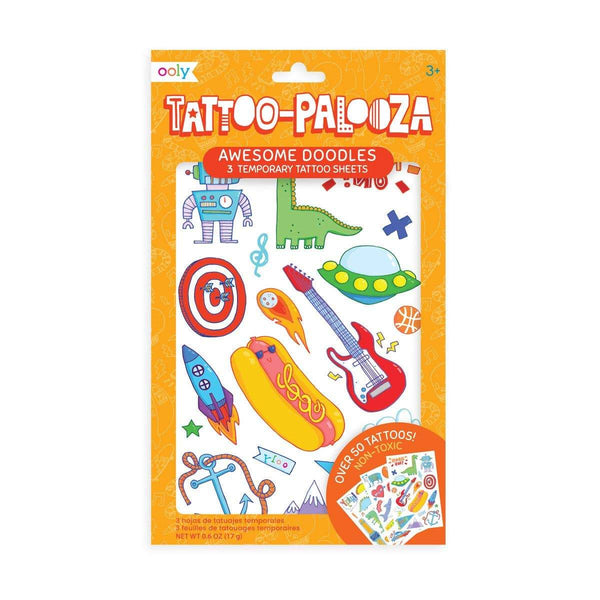 OOLY - Tattoo Palooza Temporary Tattoo: Awesome Doodles - Little Nomad