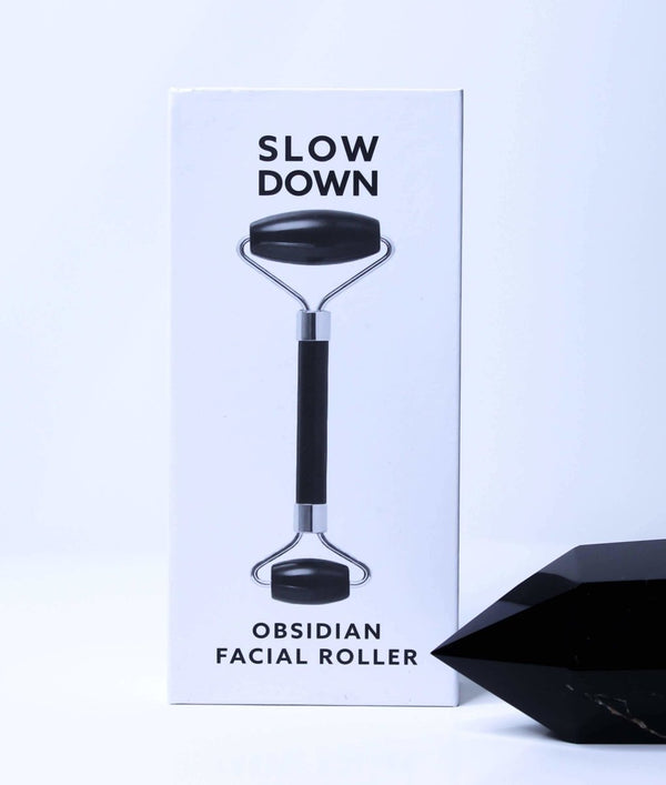 Slow Down - Obsidian Facial Roller - Little Nomad