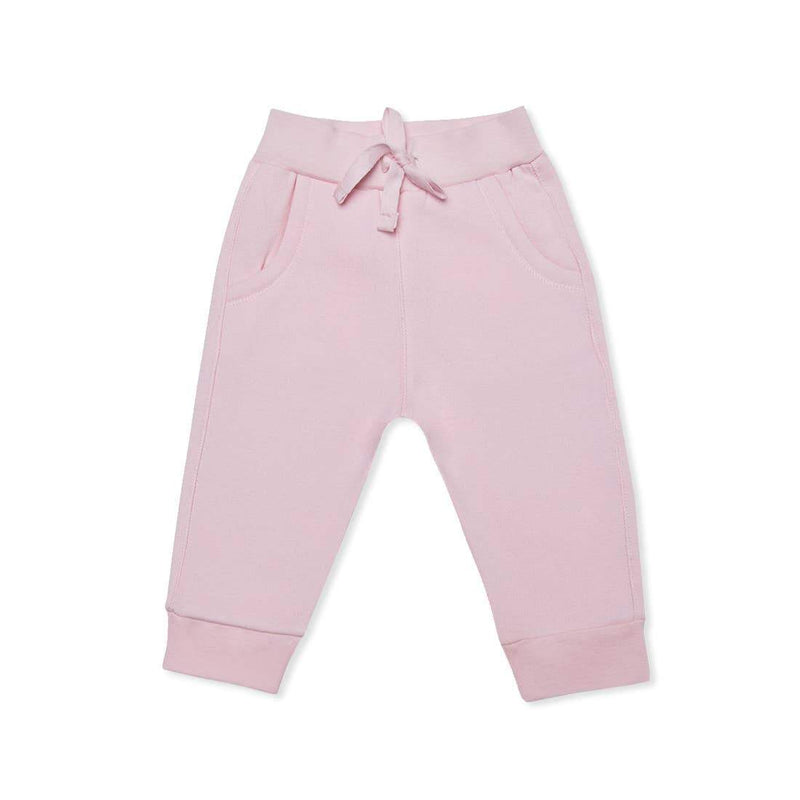 Soft Pink French Terry Jogger - Little Nomad