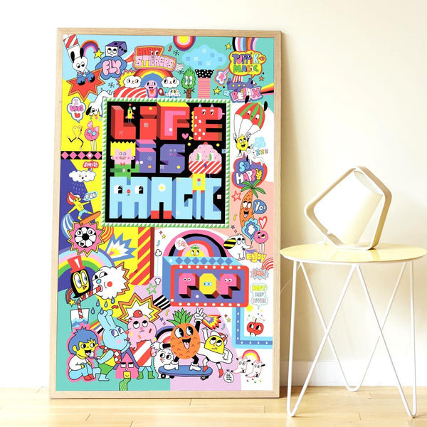 Street Art Creative Sticker Poster - Little Nomad