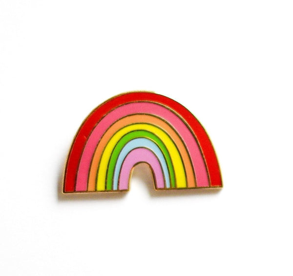 The Penny Paper Co. - Enamel Pin, Rainbow No.2 - Little Nomad