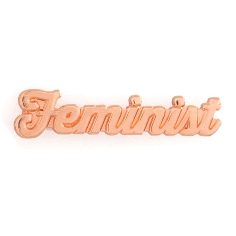 These Are Things - Feminist Rose Gold Enamel Pin - Little Nomad