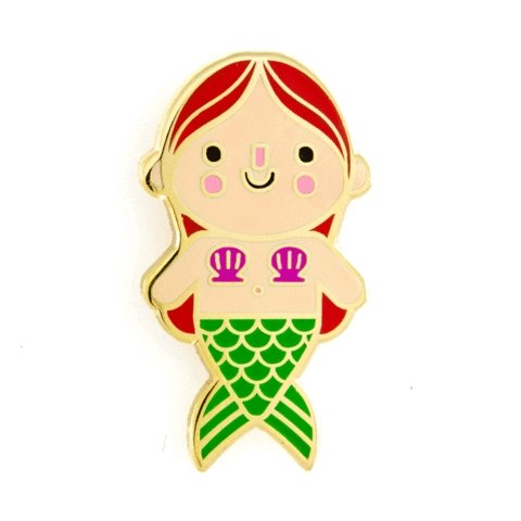 These Are Things - Mermaid Baby Red Hair Enamel Pin - Little Nomad