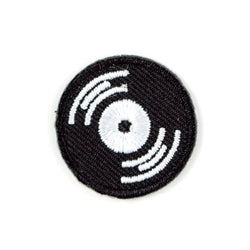 These Are Things - Record Embroidered Sticker Patch - Little Nomad