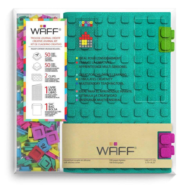 Waff World Kids Teal Glitter Large Journal Combo - Little Nomad