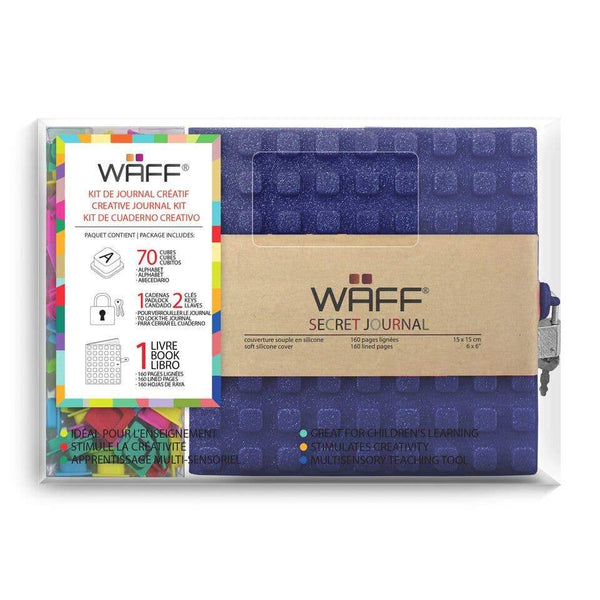 Waff World Kids Navy Glitter Secret Journal Combo - Little Nomad