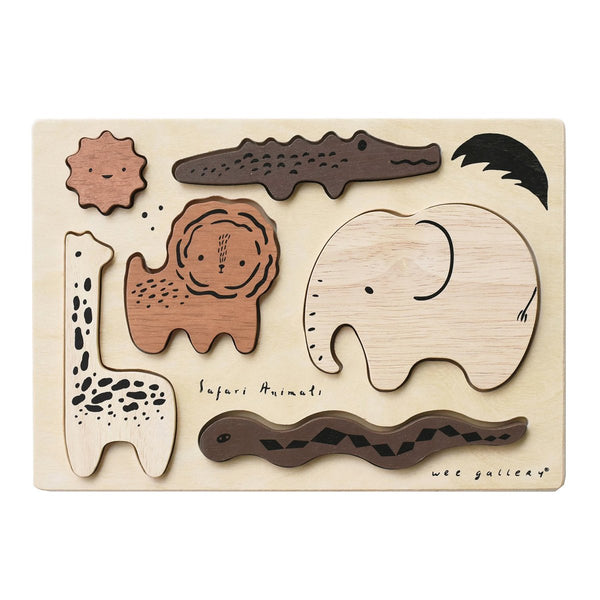 Wooden Tray Puzzle - Safari Animals - Little Nomad