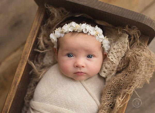 Newborn and baby floral crowns newborn photography props baby bliss props