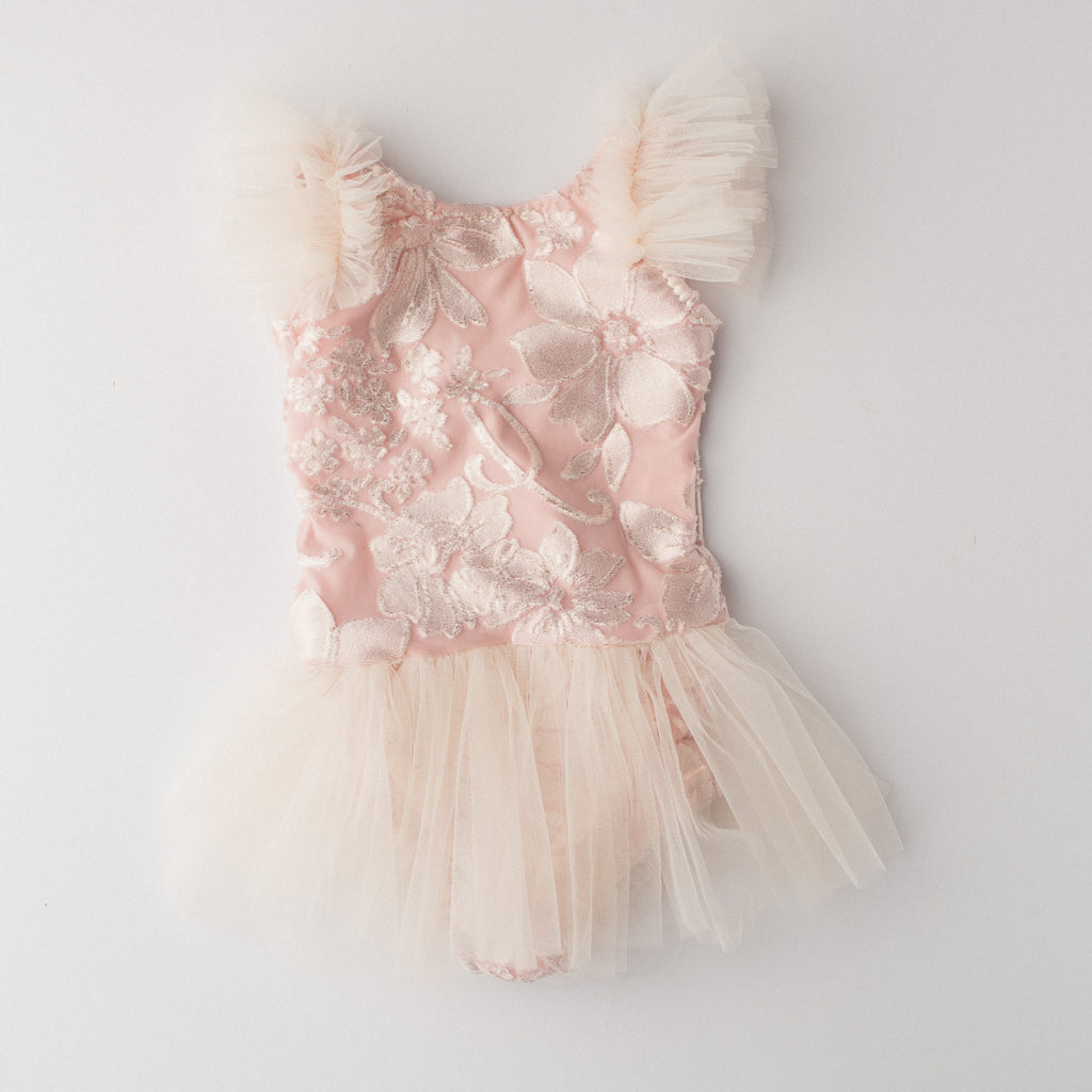 Pink Floral Leotard Tutu Playsuit