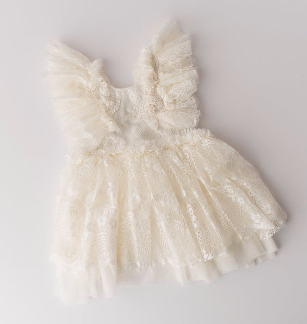 Esme Ivory Lace Baby Dress | Photography Prop