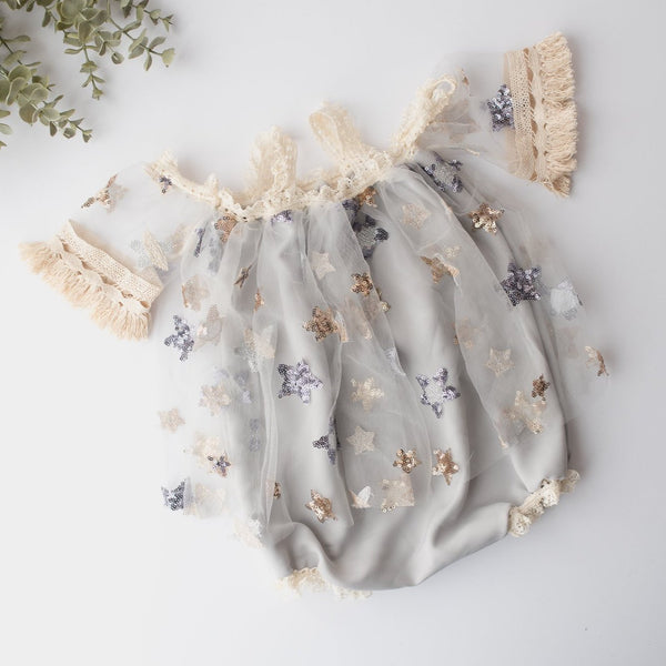 Stardust Baby Romper | Photography Prop