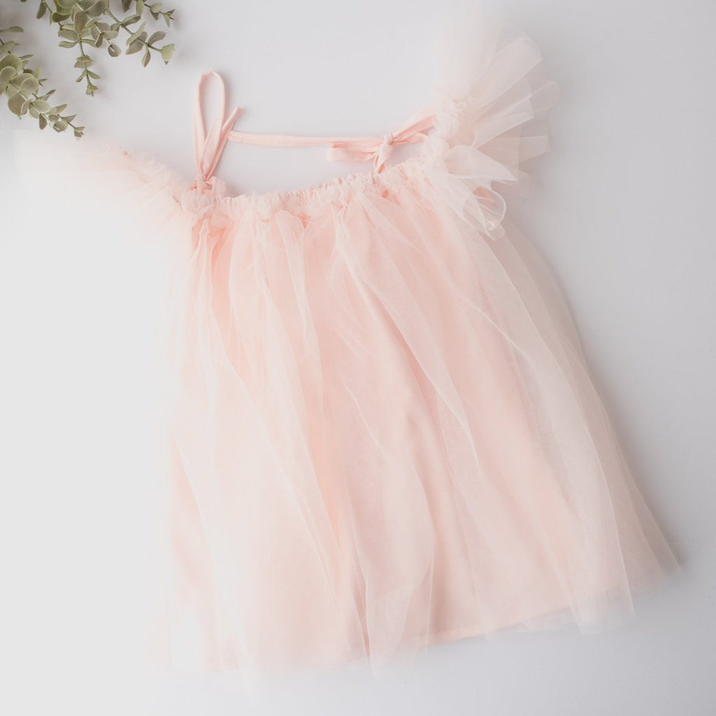 Looking for the perfect holiday dress?  Our Elle Blush Tulle Baby Dress is it.