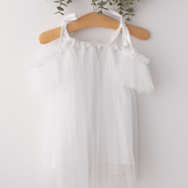 Pure White Elle Tulle Baby Dress  | Photography Prop