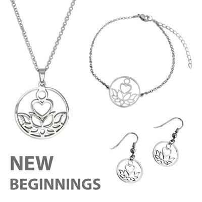 New Beginnings Silver Jewelry Set - Paybackgift