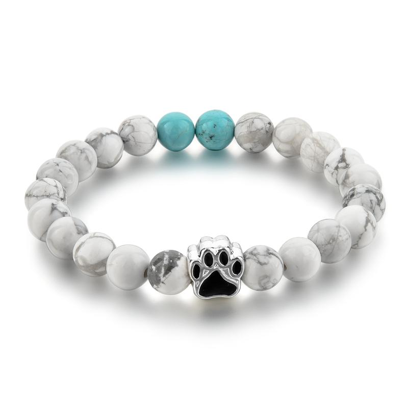 Turquoise Animal Connection Mala Bracelet