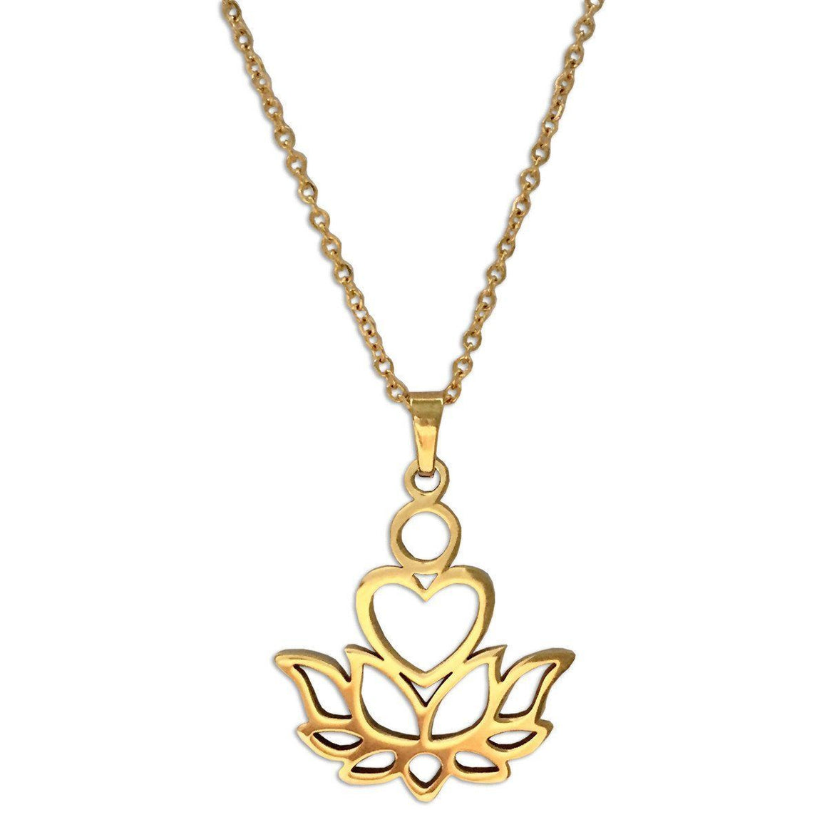 Gold Love Lotus Necklace