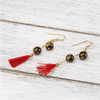 Tiger's Eye Tassel Earrings - Paybackgift