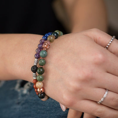 Indian Agate Buddha Bracelet - Paybackgift
