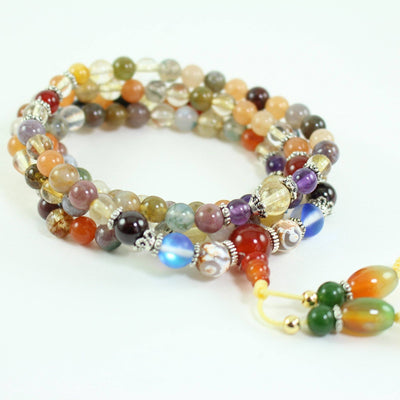 Buddhist Crystal Quartz Mala Bracelet/Necklace - Paybackgift