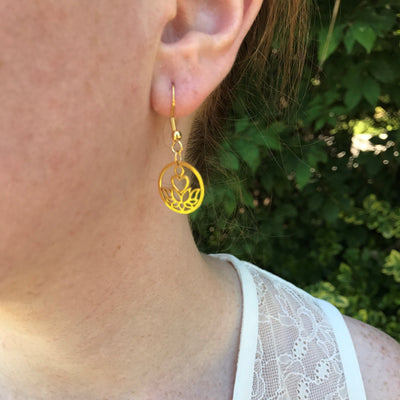 Purity Gold Earrings - Karma Club - Paybackgift