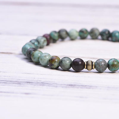 African Turquoise Positivity Mala - Paybackgift