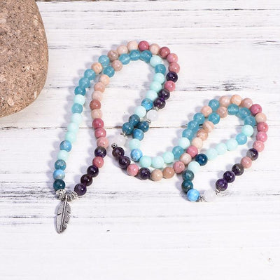 Blue Apatite Endless Summer Mala - Paybackgift