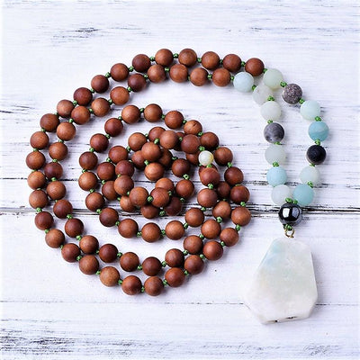 Positivity Amazonite & Sandalwood Mala - Paybackgift
