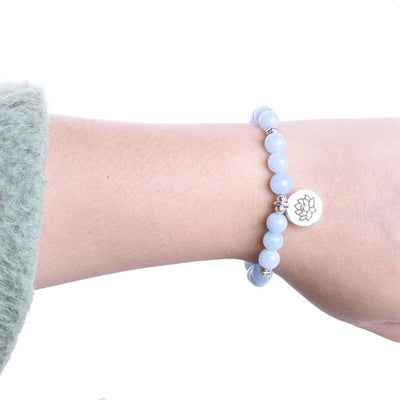 Aquamarine Throat Chakra Bracelet - Paybackgift