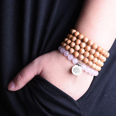 Rose Quartz Sandalwood Mala - Paybackgift