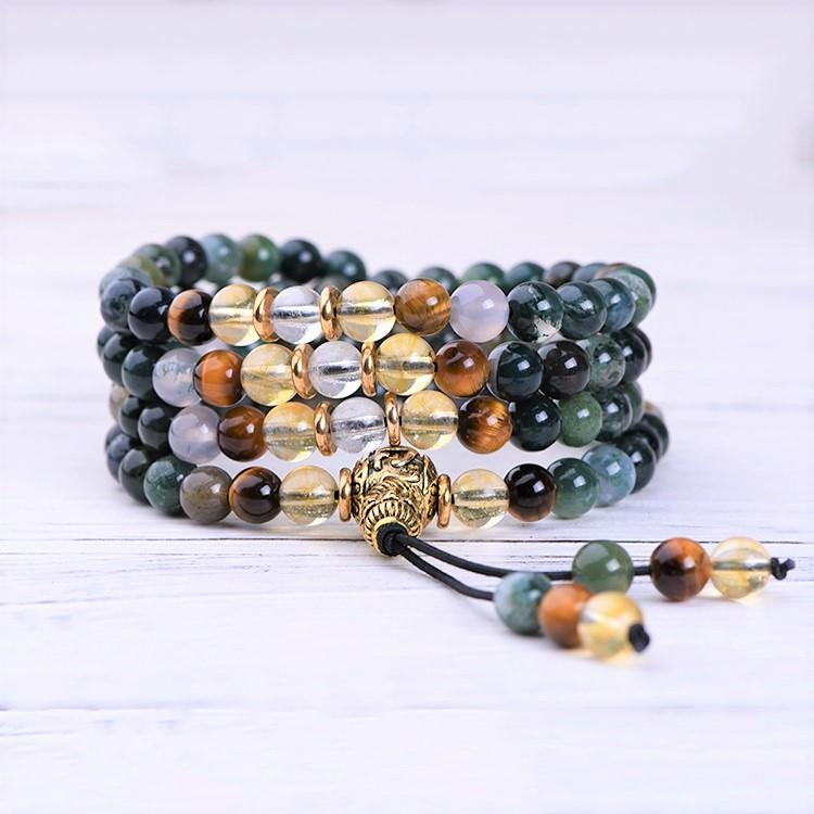 Indian Agate Prosperity Mala