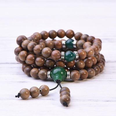 Green Sandalwood Mala Bracelet Necklace - Paybackgift