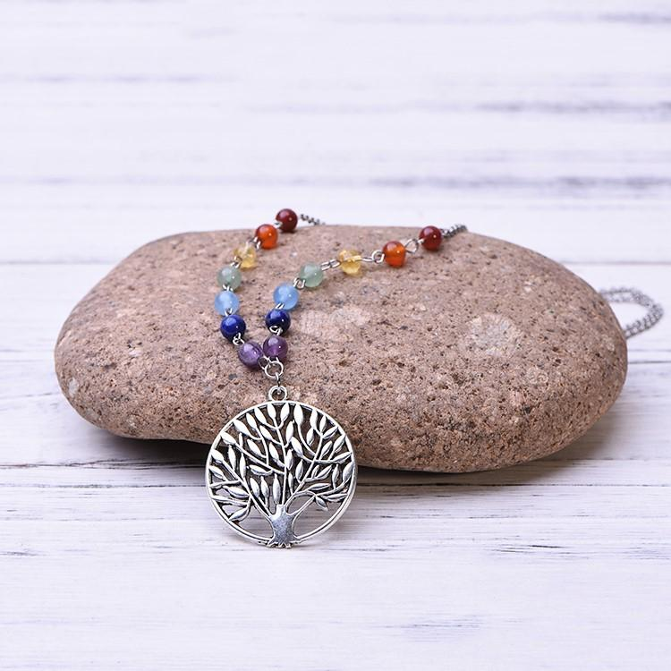 7 Chakra Tree of Life Necklace - Paybackgift
