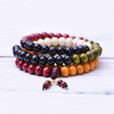 Sandalwood Beads Mala Bracelet Necklace - Paybackgift