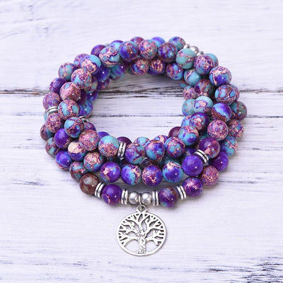 Purple Imperial Jasper Strength Mala - Paybackgift