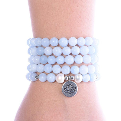 Aquamarine Throat Chakra Mala - Paybackgift