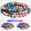 Blue Apatite Jasper Nature 3 Mala Bundle - Paybackgift