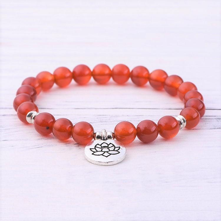 Red Agate Root Chakra Bracelet