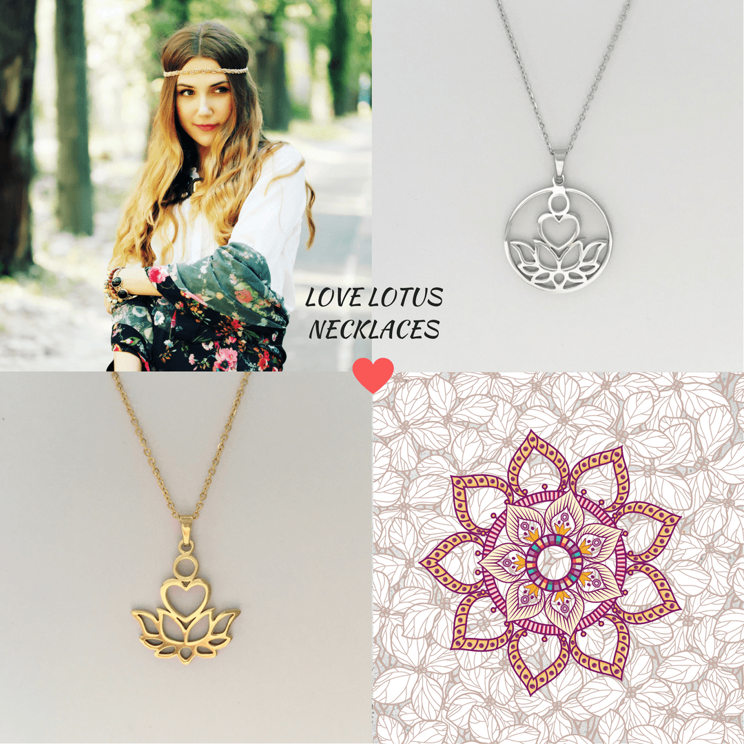 Love Lotus Necklace Set