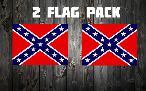 3 ft. X 5 ft. Confederate Battle Flags (2 Pack)