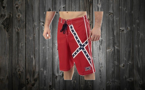 Confederate Flag Board Swimming Shorts