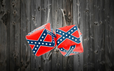 "Confederate Flag Hanging 3"" Dice"