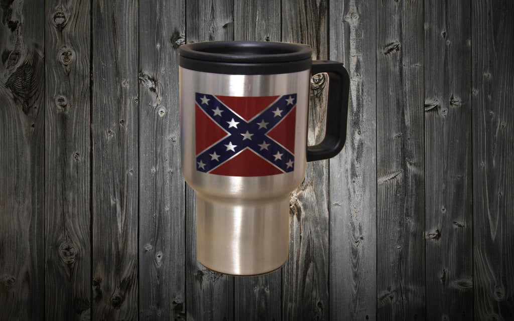 Confederate Flag Insulated Travel Mug