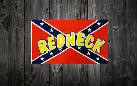 "Confederate Flag 3 ft. x 5 ft. with ""REDNECK"""
