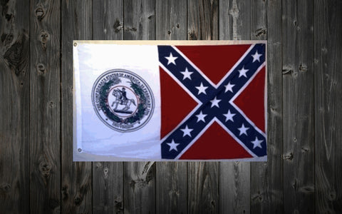 Seal of the Confederacy Battle Flag 3 ft. x 5 ft.