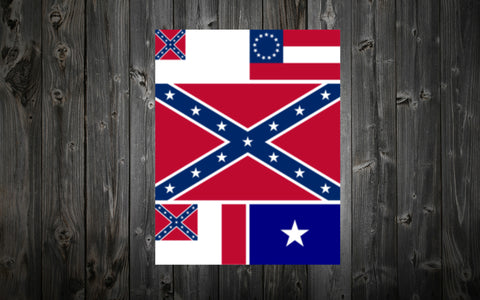 Flags of the Confederate States - 5 Piece Flag Set (3 ft. x 5 ft.)