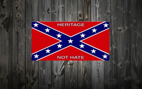 """Heritage Not Hate"" Confederate Bumper / Window Sticker"