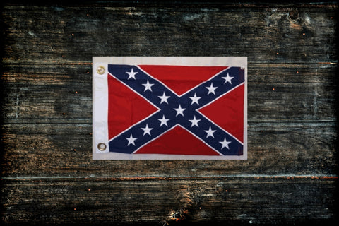 "Confederate Boat Flag 12"" x 18"" Heavy Duty"